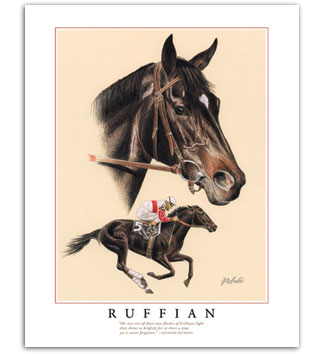 Auto Racing Images  Sale on Thoroughbred   Horse Racing Art For Sale   Paintings By Rohde