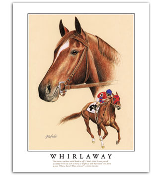 Whirlaway Triple Crown horse pictures thoroughbred racing equine artist