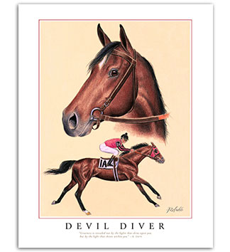 Devil Diver famous racehorse art paintings prints d»cor