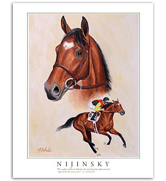 Nijinsky II thoroughbred horse art picture painting