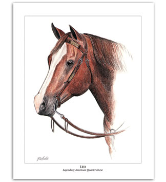 Leo famous American Quarter Horses art paintings