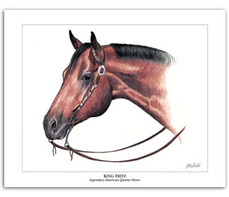 King Fritz Quarter Horse stallion horse art pictures