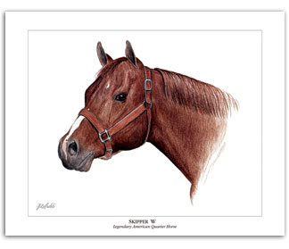 Skipper W famous Quarter Horse art painting by Rohde