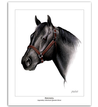 Peponita AQHA Quarter Horse art cutting horse stallion