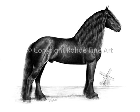 Pride of Friesland : Friesian Horse Art For Sale : Friesian