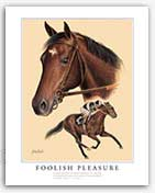Foolish Pleasure horse art Ruffian match race famous