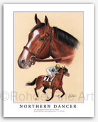 Northern Dancer thoroughbred horse art painting racing
