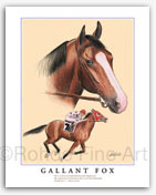 Gallant Fox horse racing art thoroughbred sporting equine artists