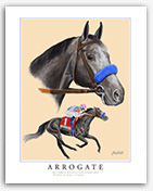 Arrogate horse racing art painting prints pictures