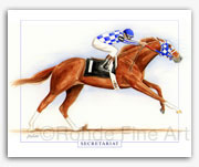 Secretariat horse racing art paintings portraits gifts