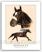 Zenyatta horse racing art paintings prints pictures