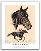 Ruffian horse racing famous racehorses thoroughbred equine art