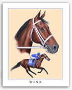Winx horse racing art prints paintings