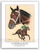 Landaluce famous horse racing paintings Seattle Slew
