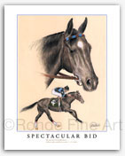 Spectacular Bid famous thoroughbred race horse art prints galleries