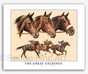 Kelso Forego John Henry thoroughbred horse art prints tribute