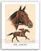 Dr. Fager stallion thoroughbred horse racing paintings art equine artists