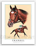 Frankel horse racing art prints paintings equine pictures