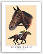 Round Table champion racehorses horse racing legends art history Thoroughbred