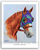 California Chrome horse racing Kentucky Derby art painting print