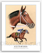 Alysheba Thoroughbred racehorse art paintings picture