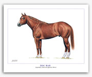 Doc Bar Quarter Horse art painting conformation